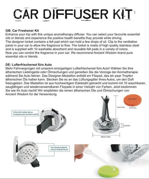 Car Diffuser Kit - Flower Of Life