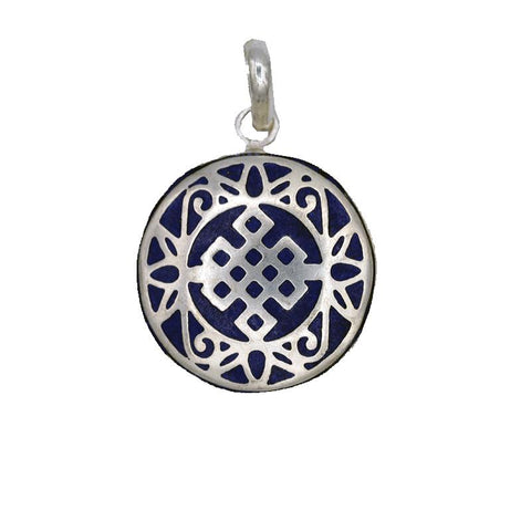 Endless Knot Pendant (Blue)