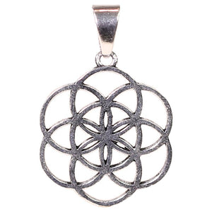 Flower of Life Pendant (Silver/Brass)