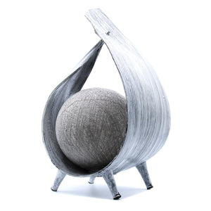 Natural Coconut Lamp - Grey wash Wrap over