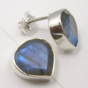 Labradorite Sterling Silver Stud Earrings