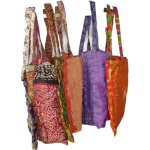 Vintage Sari Shopping Bag
