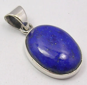 Lapis Lazuli Sterling Silver Large Oval Pendant
