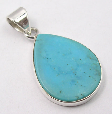 Turquoise Sterling Silver Teardrop Pendant