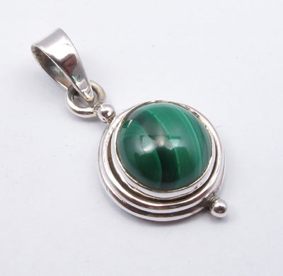 Malachite Sterling Silver Pendant