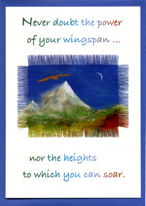 'Never Doubt the Power of your Wingspan' Greetings Card
