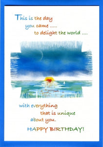'You Came to Delight the World' Birthday Card