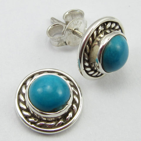 Turquoise Sterling Silver Stud Earrings