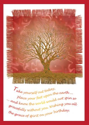 'Grace of Spirit' Birthday Card
