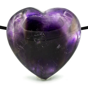 Amethyst Drilled Heart Pendant