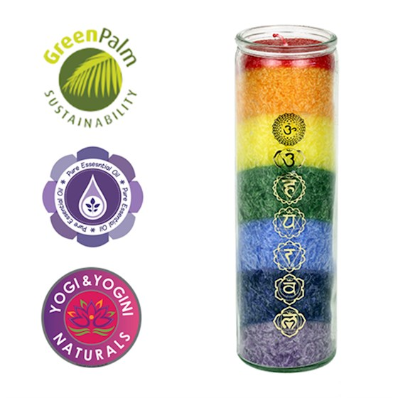 7 Chakra candle with essential oils