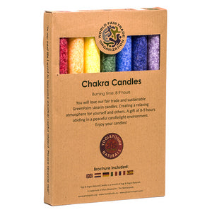 Scented Dinner Candles Chakra Set of 7