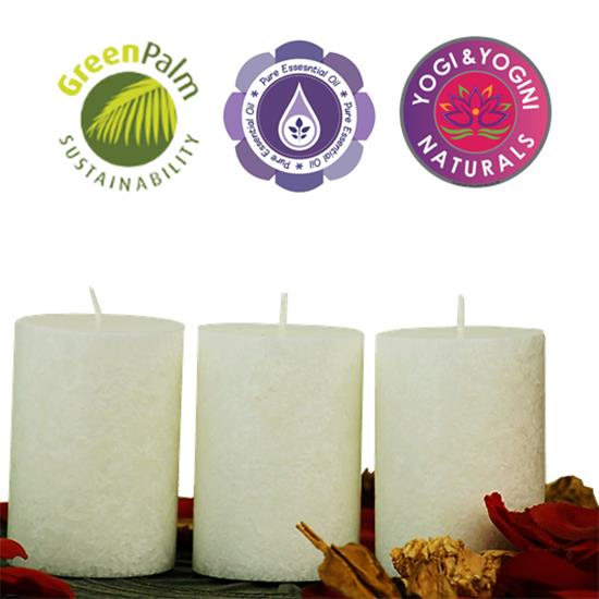 Sustainable Stearin Set Of 3 Candles - PURENESS