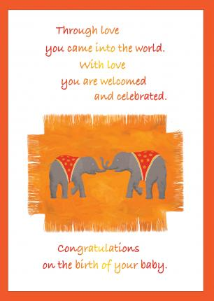 'Congratulations on the Birth of Your Baby' Greetings Card