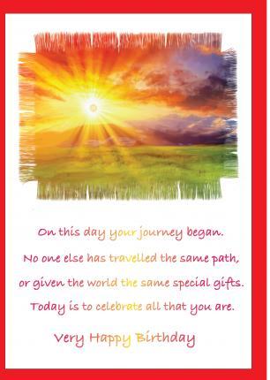 'On This day Your Journey Began' Birthday Card