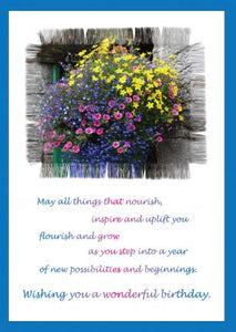 'Flourish and Grow' Birthday Card