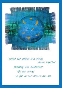 'When Our Hearts and Minds Dance Together' Greetings Card
