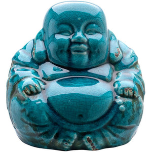 Sitting Laughing Ceramic Buddha