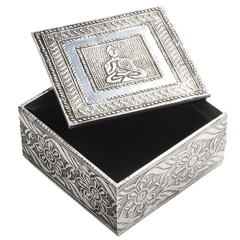 Embossed Buddha Design Box with Lid
