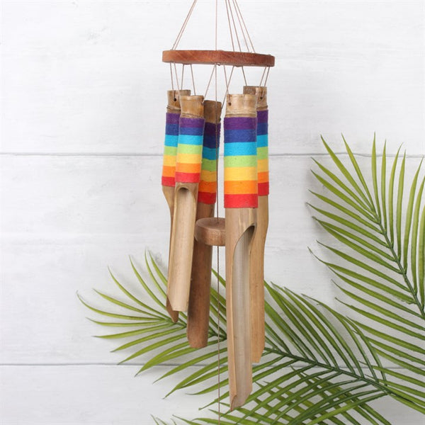 Rainbow Design Bamboo Windchime