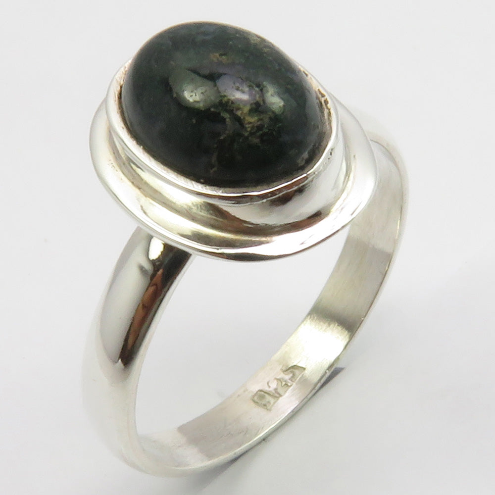 Black Onyx Sterling Silver Oval Ring