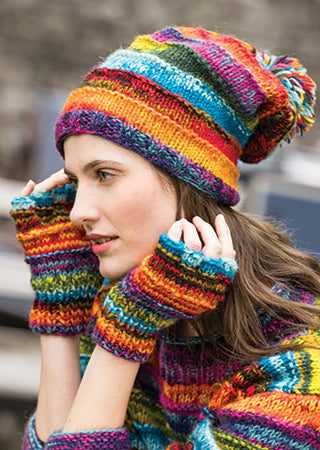 Space Dye Wool Baggy Beanie Hat