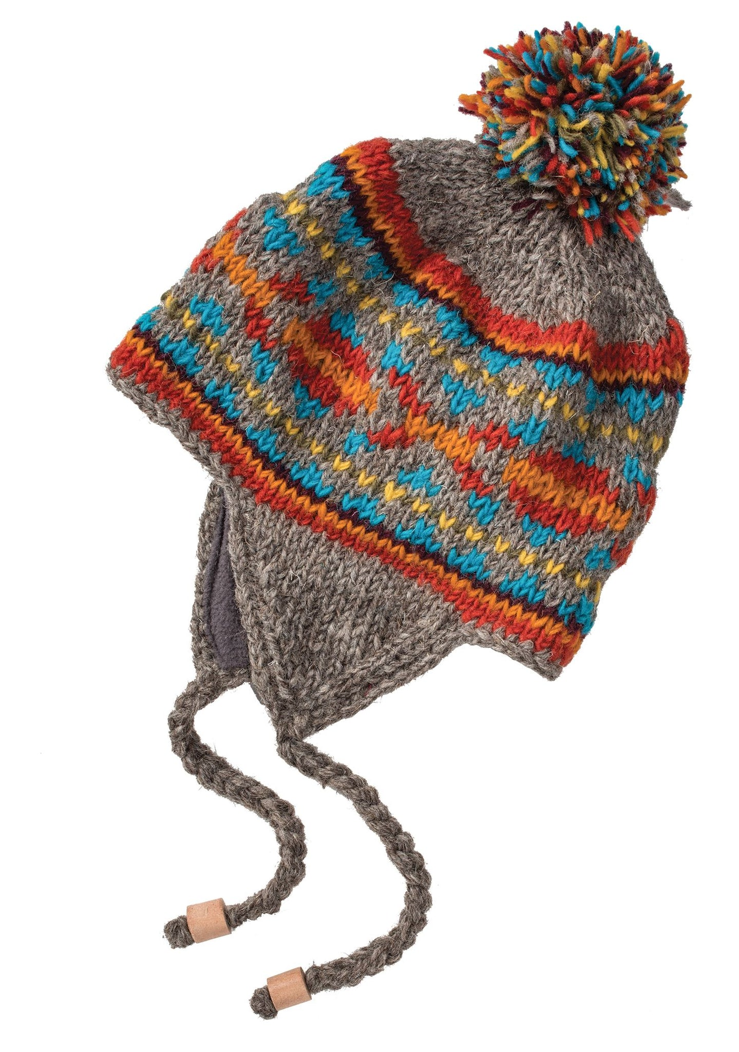 Earflap Hat with Aztec Pattern
