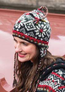 Langtang Hand Knitted Fair Isle Earflap Hat