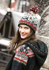 Langtang Hand Knitted Fair Isle Pullover Hat