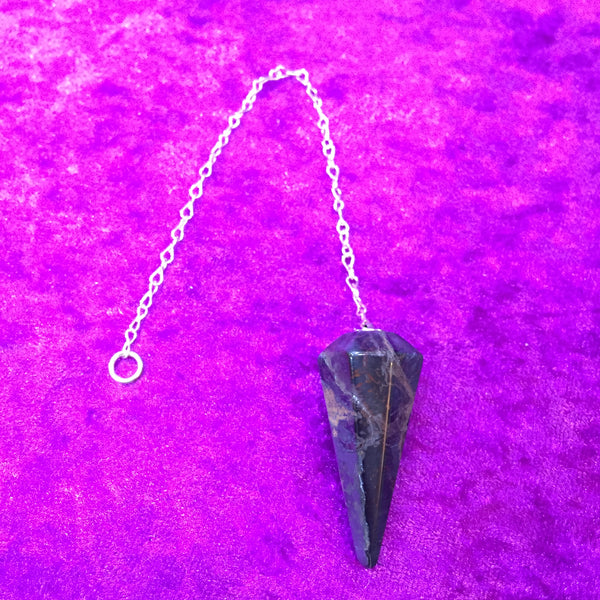 Blue Tiger Eye Faceted Pendulum