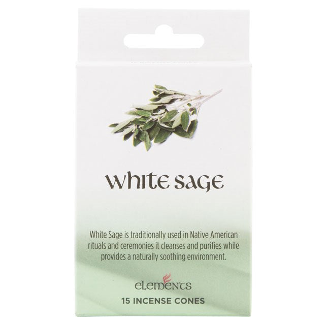 Elements White Sage Incense Cones