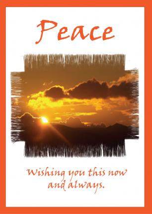 'Peace' Greetings Card