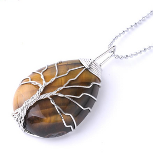 Tree Of Life Pendant - Tiger Eye