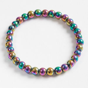 Hematite Bracelet Multi Coloured