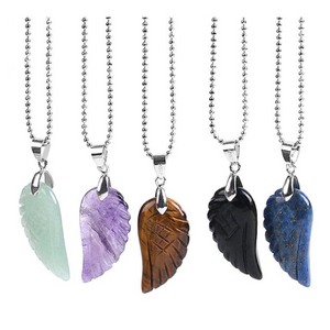 Angel Wing Gemstone Pendant
