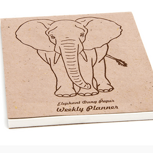 Elephant Dung Notebook/ Planner