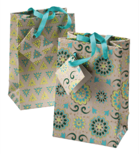 Medium Handmade Paper Gift Bag With Tag
