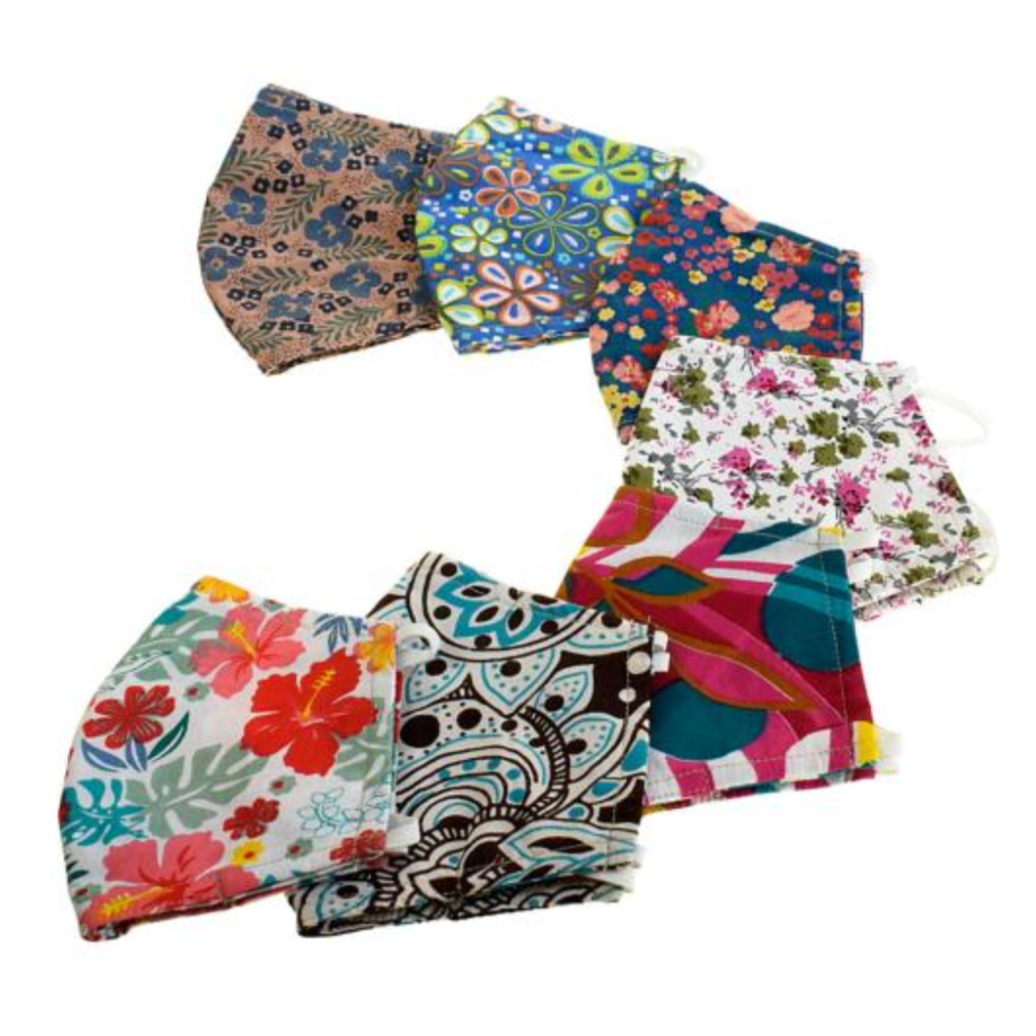 Cotton Face Masks - Floral Designs