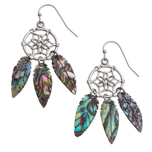 Paua Shell Dream Catcher Earrings