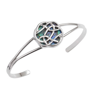 Paua Shell Celtic Knot Bangle