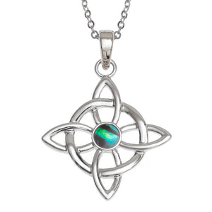 Tide Jewellery Inlaid Paua Shell Celtic Good Luck Symbol Pendant