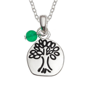 Etched Tree of Life Pendant