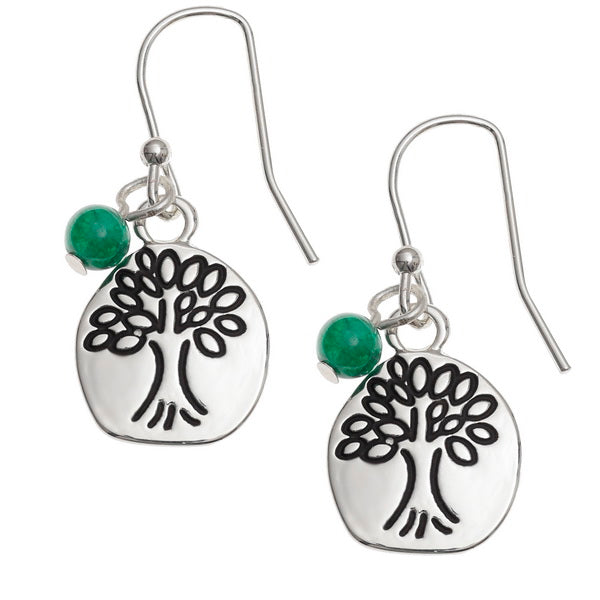 Etched Tree of Life Earrings