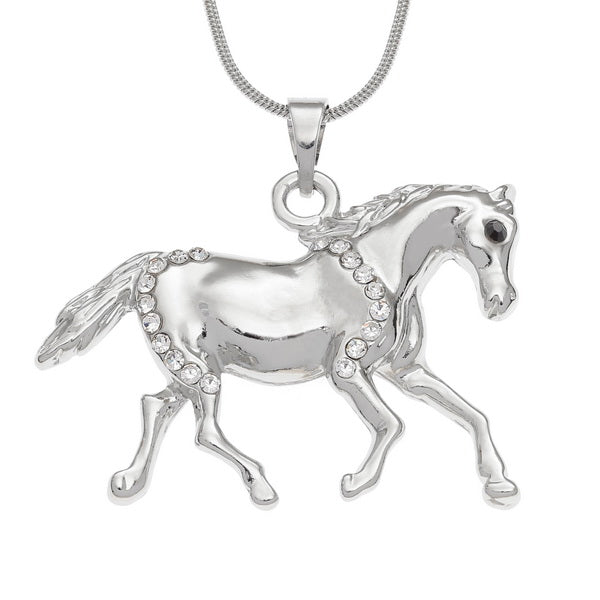Horse Pendant With Inset Stones