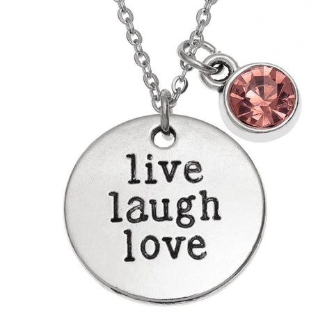 'Live, Laugh, Love' Sentiment Pendant