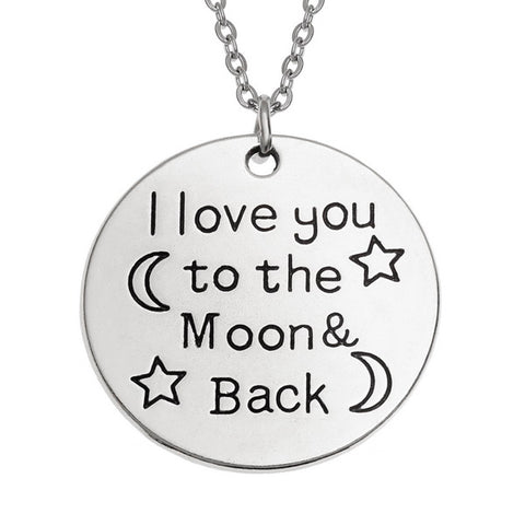 'I love you...' Sentiment Pendant