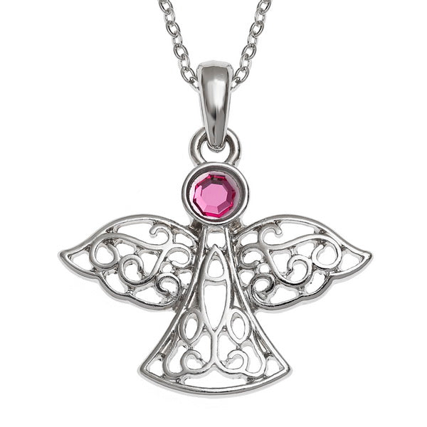 Filigree Guardian Angel Pendant
