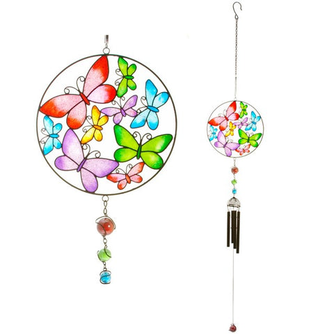 Circle Butterfly Windchime
