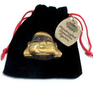 Tiger Eye Buddha Head