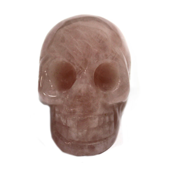 Rose Quartz Skull Carving